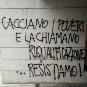 Trento, scritta su muro.